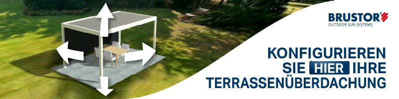Link zum Konfigurator für Terrassenüberdachung